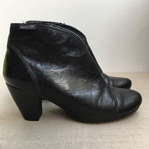 Mephisto Women US 6.5 Black Leather Ankle Booties